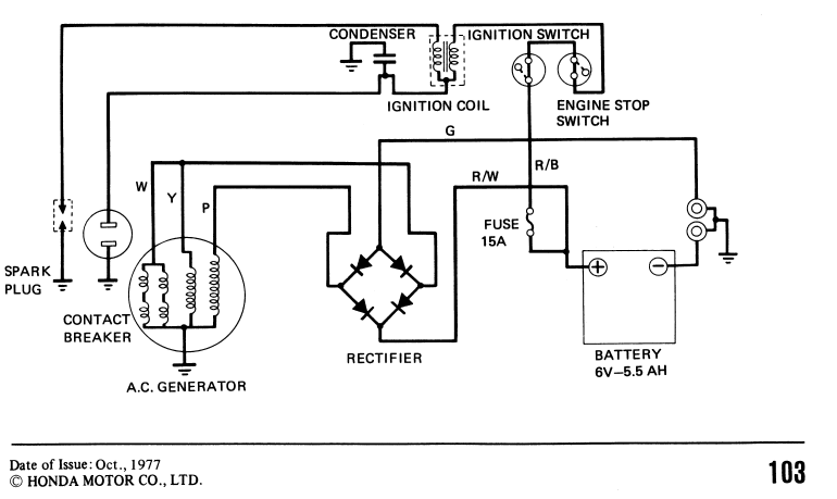 Ct110 Wiring Diagram: 1977/1978 CT90 wiring diagram need help understanding rectifier ,Design